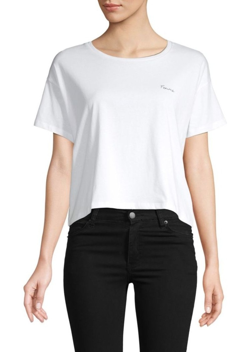 French Connection Femme Cotton Cropped Tee