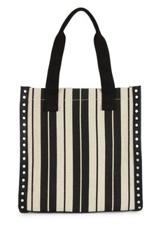 French Connection Fina Striped Studded Canvas Tote