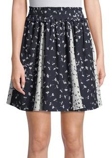 Floral Komo Drape Skirt