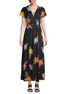 French Connection Floral-Print Maxi Wrap Dress