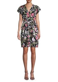 French Connection Floreta Cotton Blend Wrap Dress
