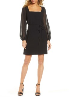 French Connection Aadinala Long Sleeve Crepe Dress