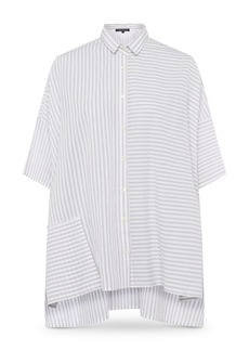 FRENCH CONNECTION Aashi Striped Oversized Cotton Shirt
