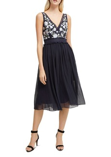 FRENCH CONNECTION Abriana Floral-Embroidered Midi Dress