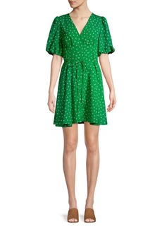 French Connection Adelise Graziana Tied V-Neck Dress