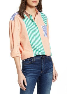 French Connection Adisa Mix Stripe Button-Up Top