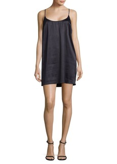 French Connection Afia Crinkle Slip Dress