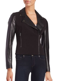 French Connection Alana Contrast Textured Moto Jacket