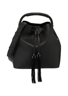 French Connection Alana Faux-Leather Drawstring Hobo Bag