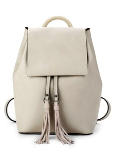 French Connection Alana Tassel Faux Leather Backpack