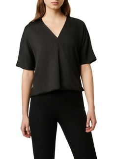 French Connection Alessia Surplice-Neck Textured Top