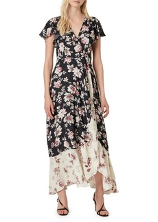 French Connection Aletta Crepe Floral Surplice Maxi Dress