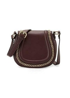 French Connection Alexa Chain-Trim Saddle Bag