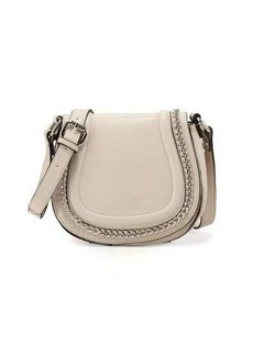 French Connection Alexa Chain-Trim Saddle Bag