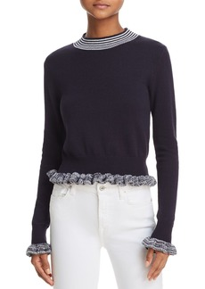 FRENCH CONNECTION Alexa Ruffle-Trimmed Sweater