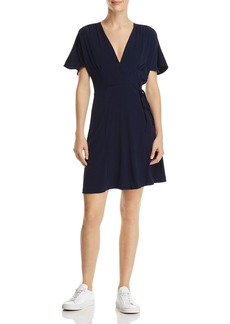 FRENCH CONNECTION Alexia Pleat-Accented Faux-Wrap Dress