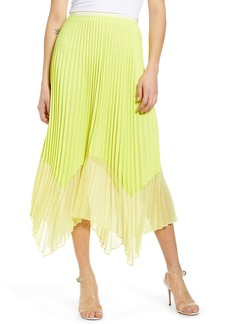 French Connection Ali Colorblock Pleated Skirt