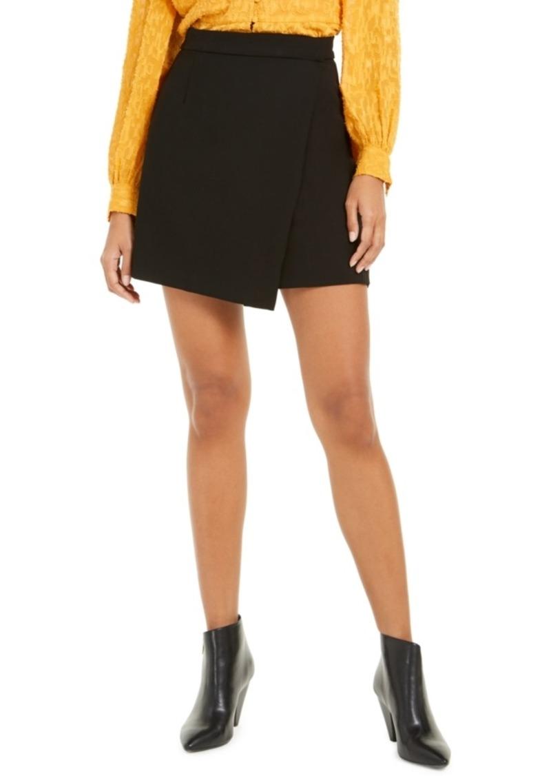 French Connection Alido Sundae Faux-Wrap Mini Skirt