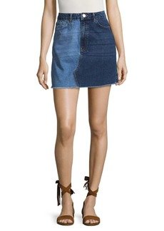French Connection Allene Cotton Denim Skirt