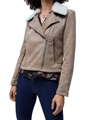 FRENCH CONNECTION Amarantha Faux Shearling Jacket