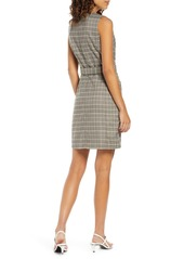 French Connection Amati Check Sleeveless Dress