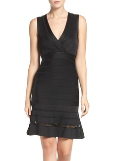French Connection 'Amhara Spotlight' Fit & Flare Bandage Dress