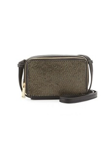 French Connection Amy Metallic Faux-Leather Crossbody Bag