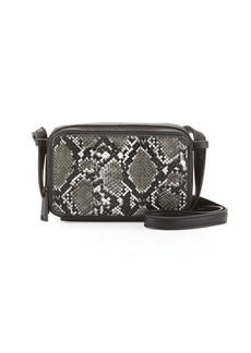 French Connection Amy Snake-Embossed Crossbody Bag