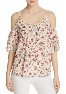 FRENCH CONNECTION Anastasia Printed Cold-Shoulder Top