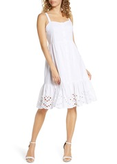 French Connection Ancolie Sleeveless Broderie Sundress