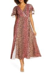 French Connection Annalia Faux Wrap Maxi Dress