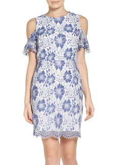 French Connection Antonia Cold Shoulder Lace Dress