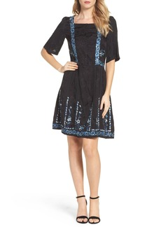 French Connection Argento Stitch Dress