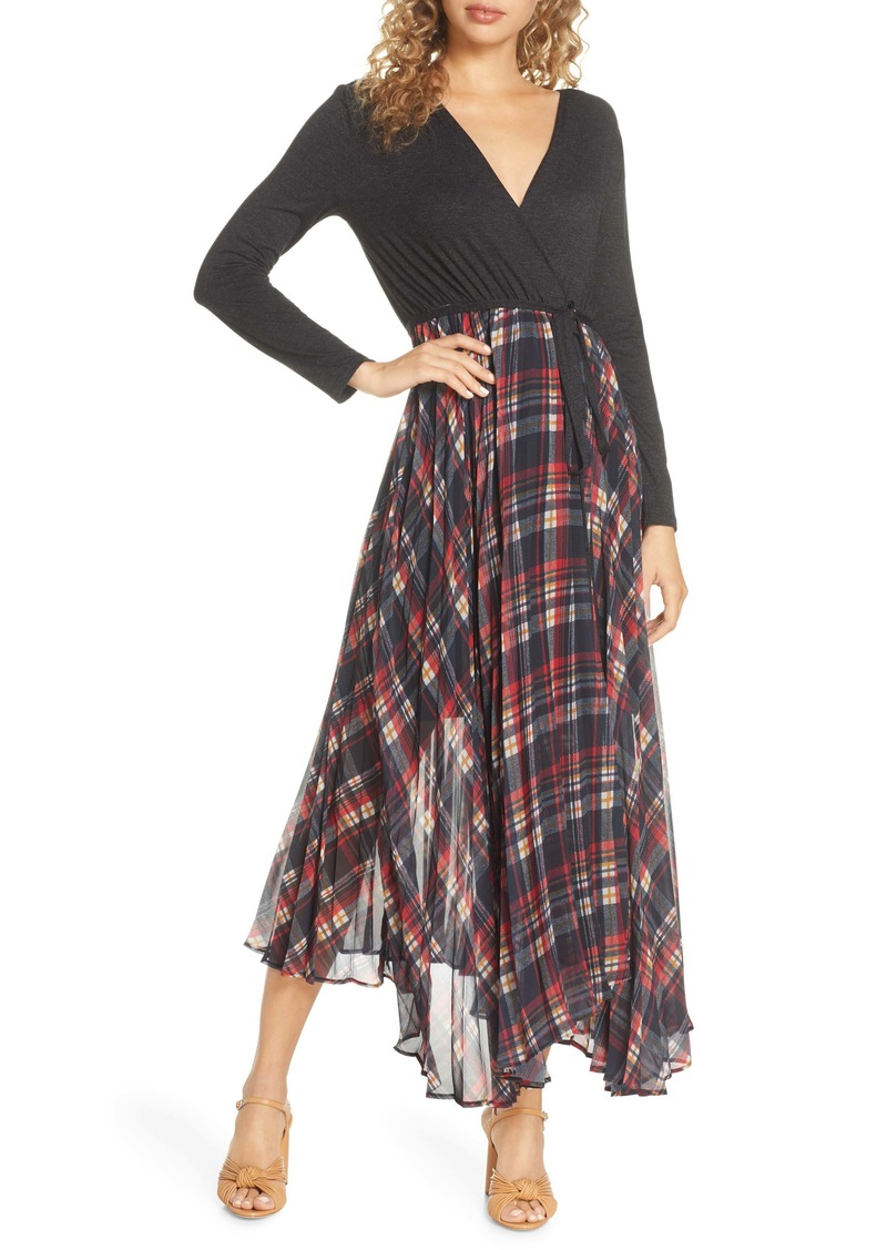 French Connection Armo Long Sleeve Midi Dress