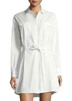 French Connection Army Poplin Belted Shirtdress