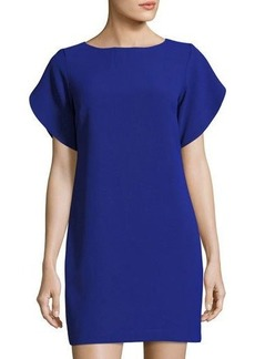 French Connection Aro Crepe Tulip-Sleeve Tunic Dress