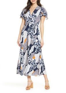 French Connection Asha Faux Wrap Midi Dress