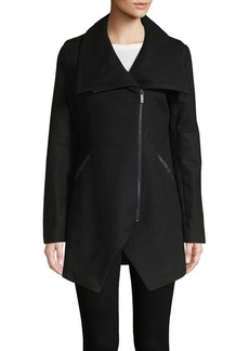 French Connection Asymmetric Hem Wool Blend Jacket