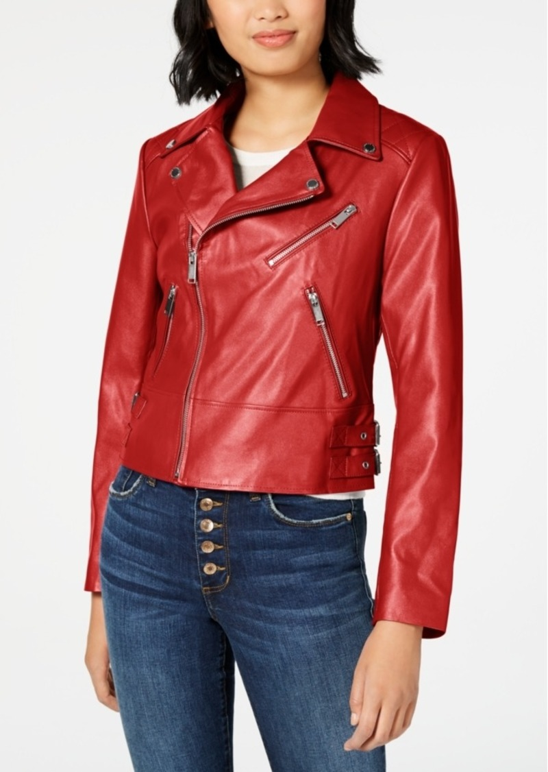 French Connection Asymmetrical Faux-Leather Jacket