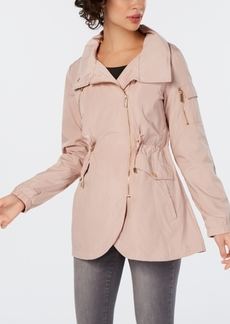 French Connection Asymmetrical Hooded Anorak Jacket