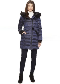 French Connection Asymmetrical Moto Jacket with Sherpa