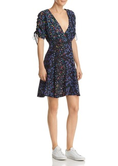 FRENCH CONNECTION Aubine Floral-Print Tie-Sleeve Dress