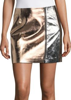 French Connection Audrey Faux Leather Mini Skirt