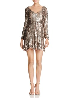 FRENCH CONNECTION Aurelie Square-Sequin Mini Dress