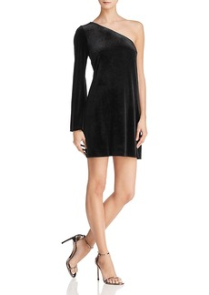 French Connection Aurore One-Shoulder Velvet Dress