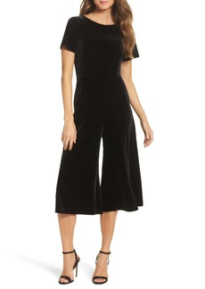 French Connection Aurore Velvet Culotte Jumpsuit