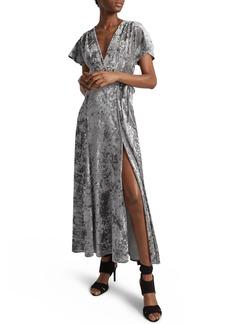 French Connection Aurore Velvet Maxi Wrap Dress