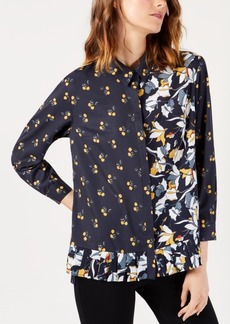 French Connection Aventine Mixed-Print Shirt