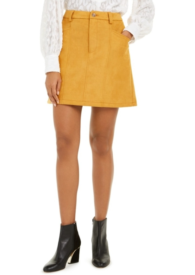 French Connection Bahati Faux-Suede Mini Skirt