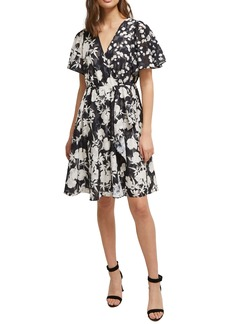 French Connection Bamba Devore Fit & Flare Dress
